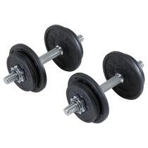 ac4e32637 Halteres de Musculação 20 kg (Conjunto) Domyos