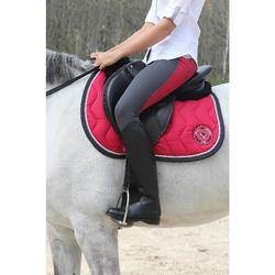 Zadelonderlegger Lena wol ruitersport paard en pony zwart