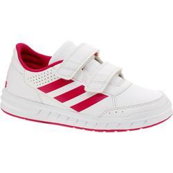 Tennisschoenen kinderen Altasport wit/roze