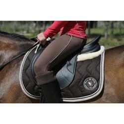"""Selle polyvalente synthétique à arçon réglable équitation cheval RIDE2 noir 17""""5"""