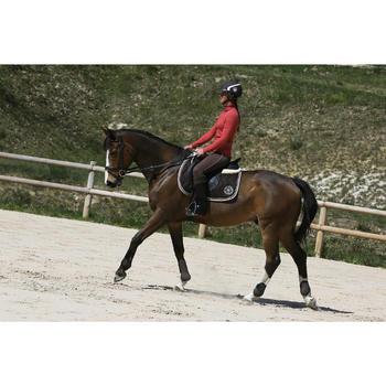 """Selle mixte synthétique à arçon réglable équitation cheval RIDE 2 noir 17""""5 - 118318"""