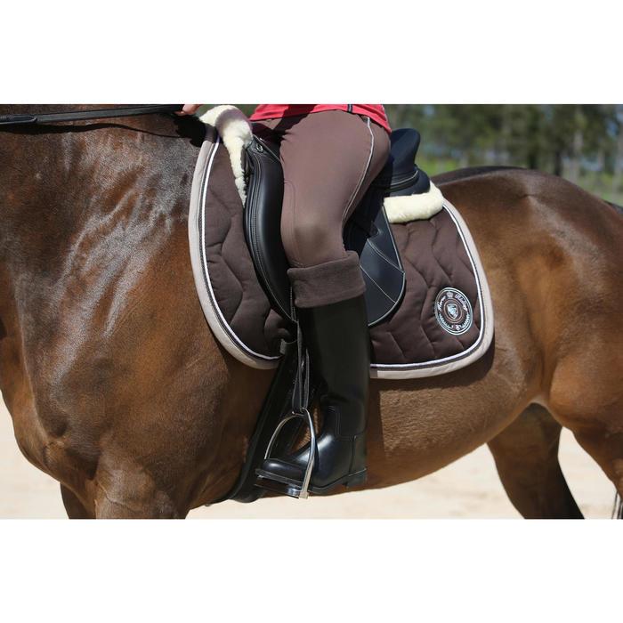 """Selle mixte synthétique à arçon réglable équitation cheval RIDE 2 noir 17""""5 - 118320"""