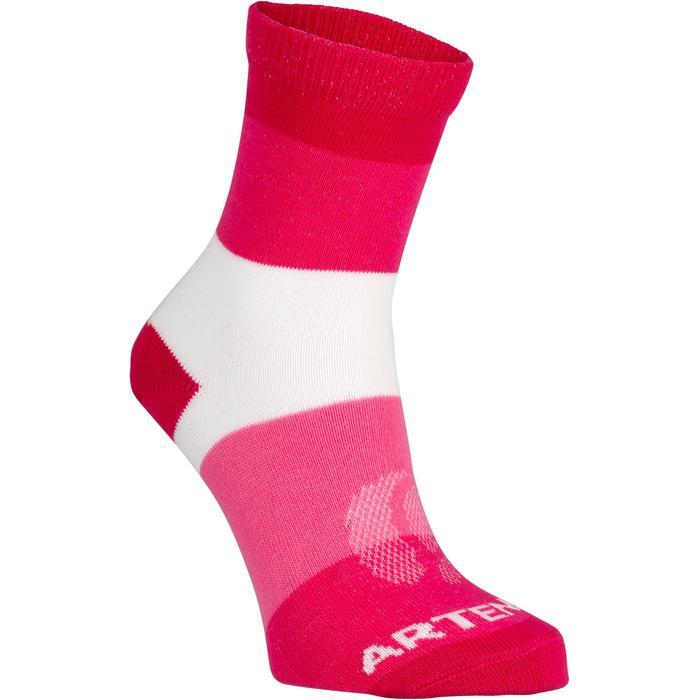 Tennissocken RS160 High Kinder 6 Paar pink