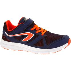 Ekiden Active Easy Children's Running Shoes - Navy/Orange