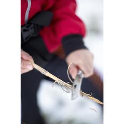 Trekkingmes Opinel nr. 8 outdoor met fluitje rood