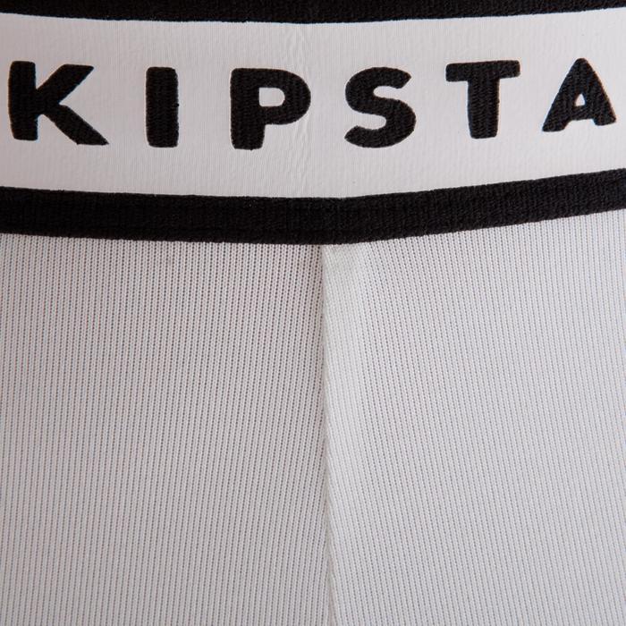 Short térmico de fútbol adulto Keepdry 100 blanco