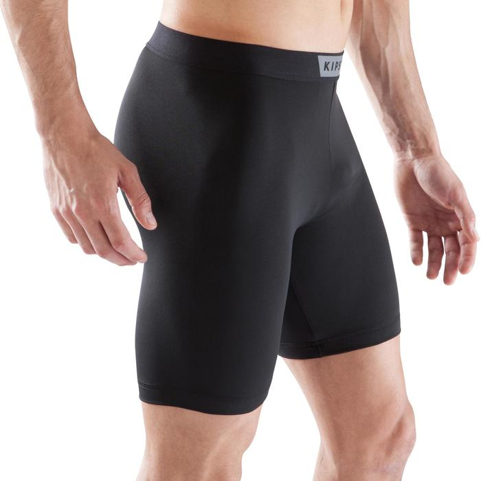 Sous short de football Keepdry 100 noir