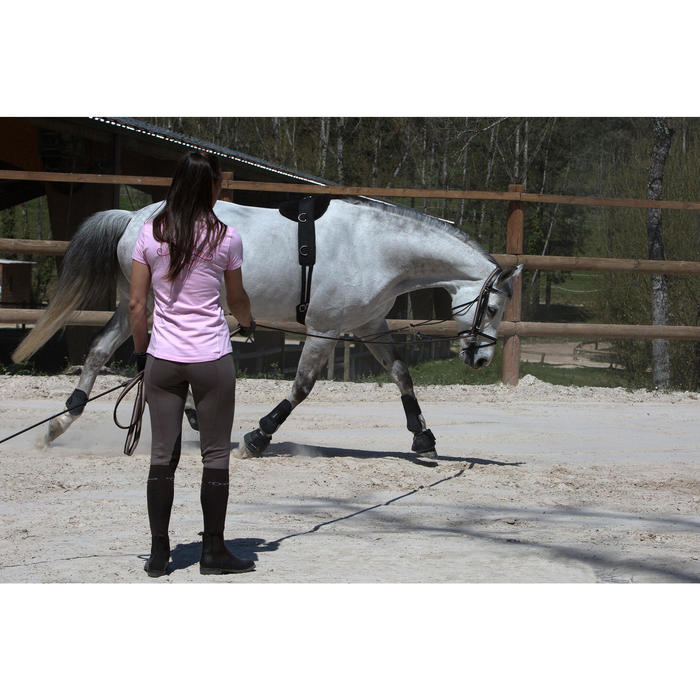 Gogue Hilfszügel Schooling Pferd schwarz