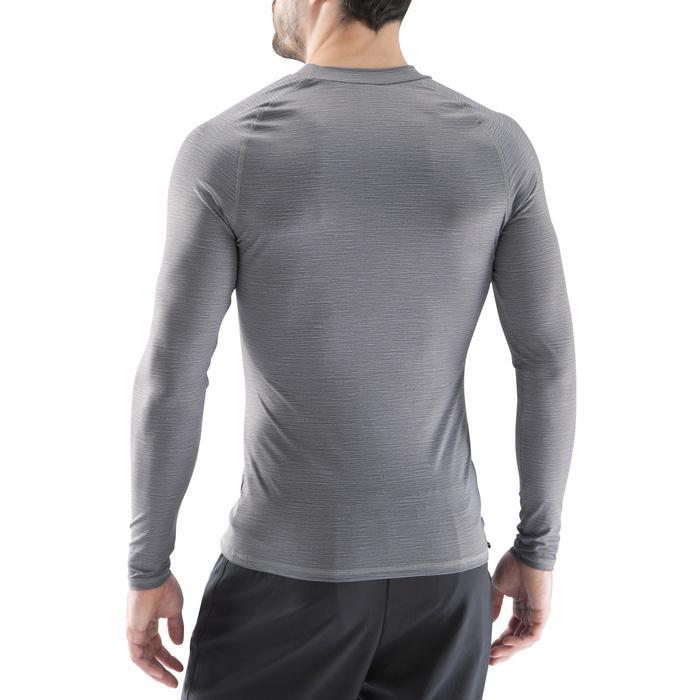 Ondershirt voor voetbal lange mouwen volwassenen Keepdry 100 grijs