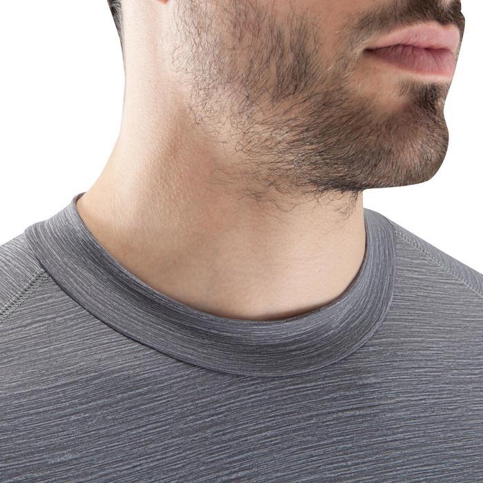 Ademend ondershirt met lange mouwen Keepdry 100 gemêleerd grijs