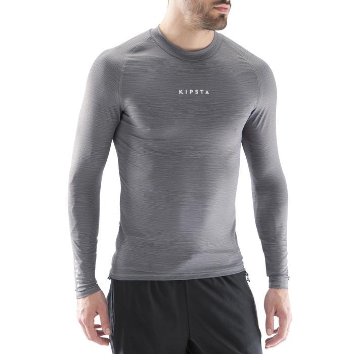 Camiseta térmica transpirable manga larga adulto Keepdry 100 gris jaspeado