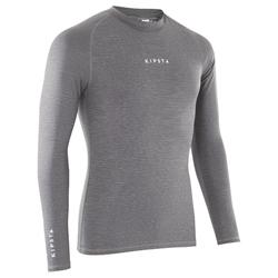 Thermoshirt Keepdry 100 lange mouwen grijs
