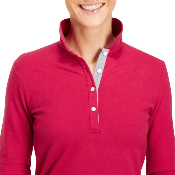 POLO MANCHES LONGUES GOLF FEMME 500 - 1183764