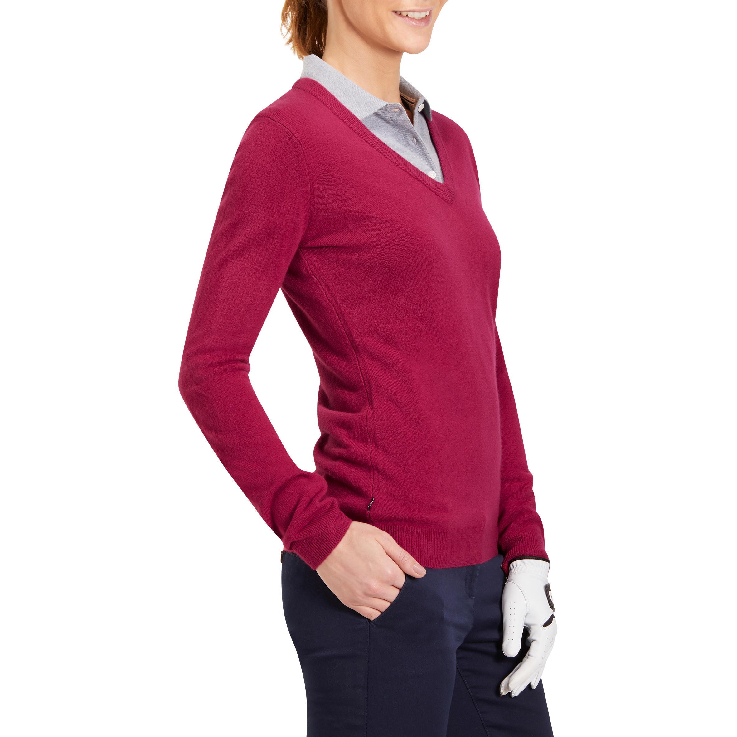 Women Golf Sweater 100 Pink