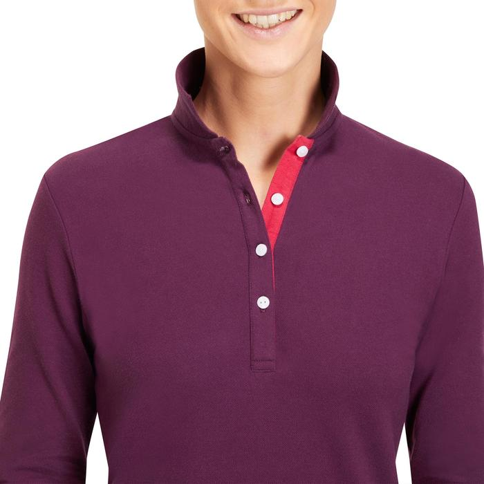 POLO MANCHES LONGUES GOLF FEMME 500 - 1183890