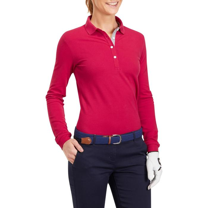 POLO MANCHES LONGUES GOLF FEMME 500 - 1183895