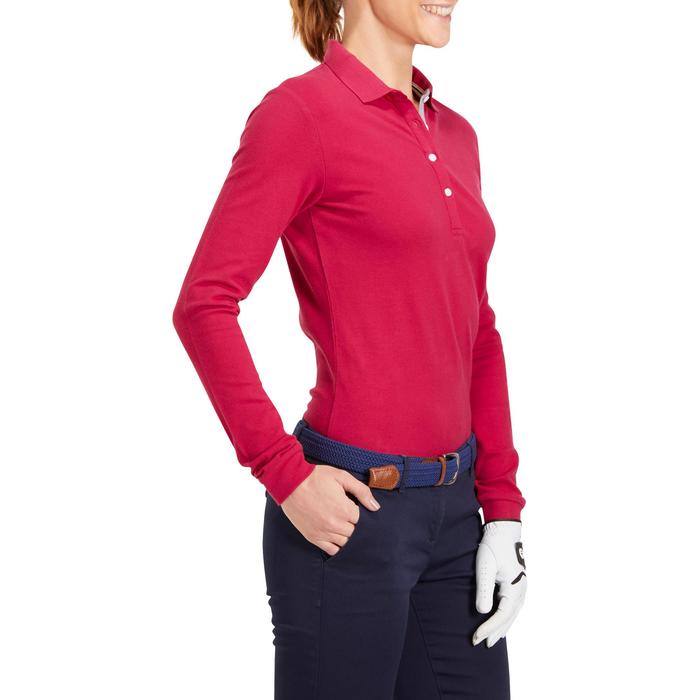 POLO MANCHES LONGUES GOLF FEMME 500 - 1183934