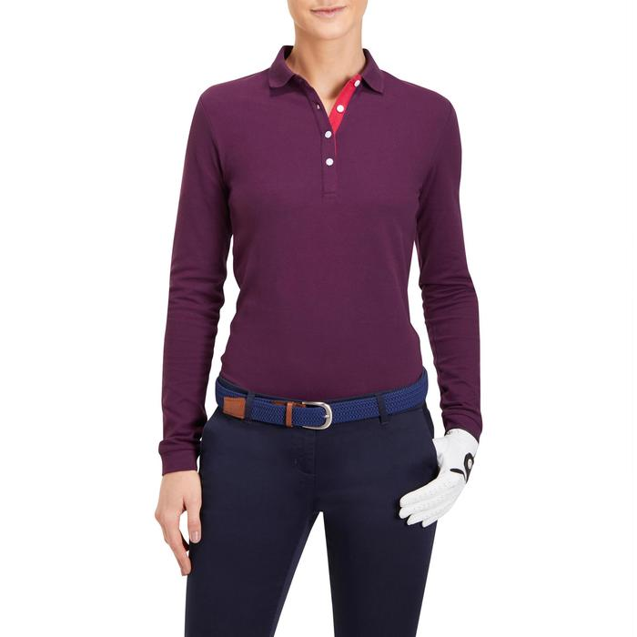 POLO MANCHES LONGUES GOLF FEMME 500 - 1183969