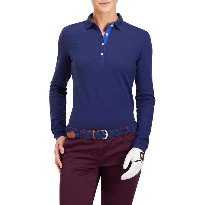 POLO MANCHES LONGUES GOLF FEMME 500 - 1183973