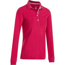 POLO MANCHES LONGUES GOLF FEMME 500