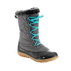 Bottes de randonnée neige femme SH900 chaudes et imperméables Gris