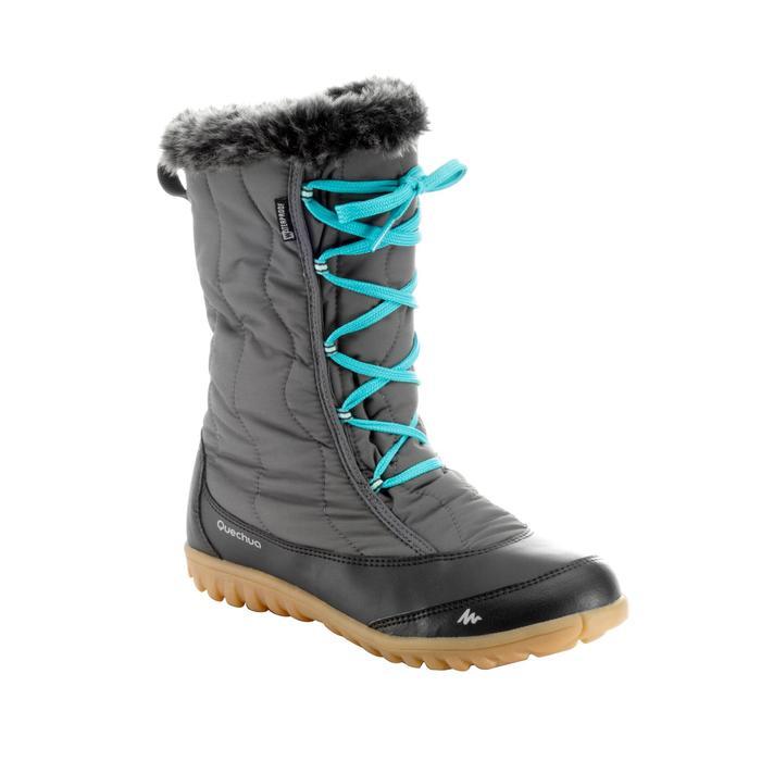 9e6abd2e88e4a Bottes de randonnée neige femme SH900 chaudes et imperméables Gris