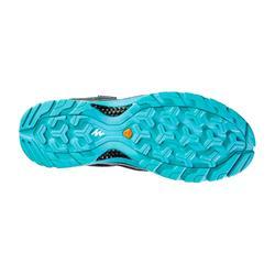 Zapatillas de montaña y trekking mujer MH100 impermeable Negro Azul turquesa