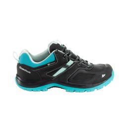 Waterdichte bergwandelschoenen voor dames MH100 zwart / turquoise