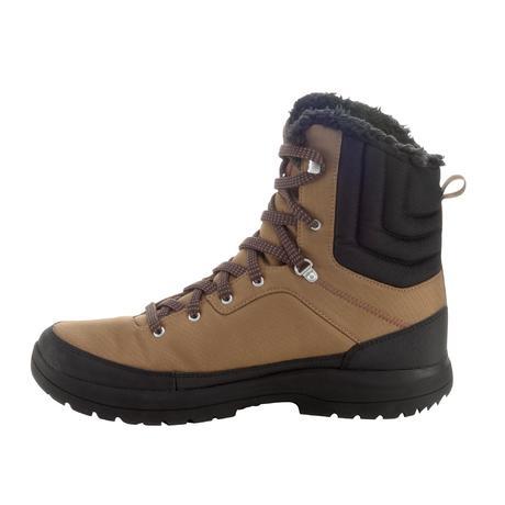chaussures de randonn e neige homme sh100 high chaudes et imperm ables marron quechua. Black Bedroom Furniture Sets. Home Design Ideas