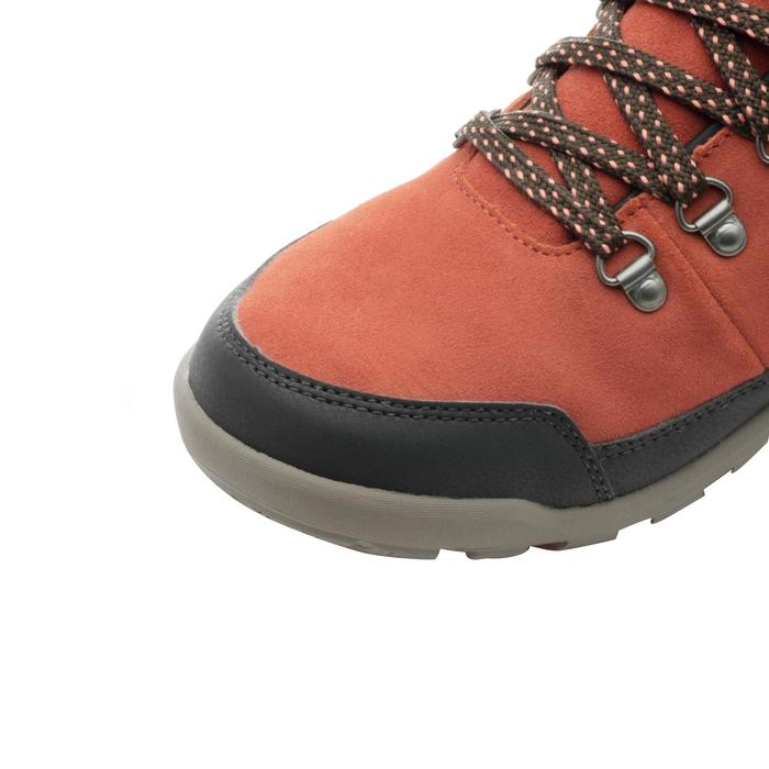 Chaussures de randonnée neige femme SH500 chaudes et imperméables Orange