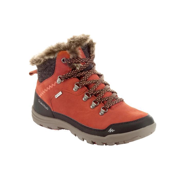 Wandelschoenen voor de sneeuw heren SH500 warm waterdicht oranje