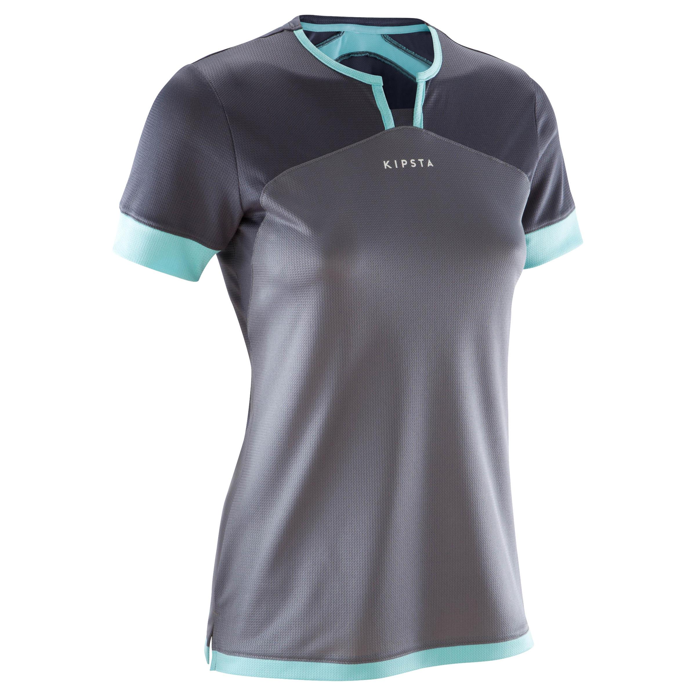F500 Women's Soccer Jersey - Grey/Mint