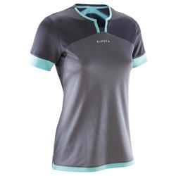 F500 Women's Football Jersey - Grey/Mint