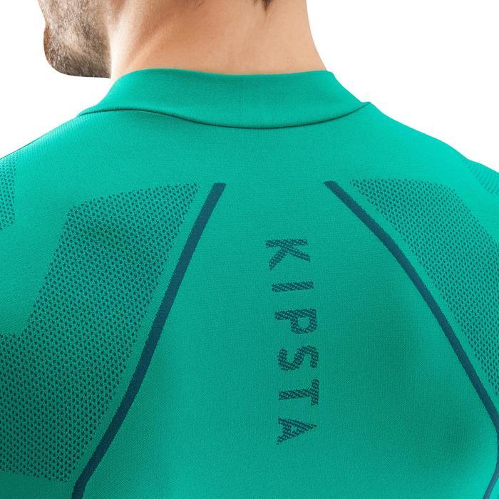 Ondershirt voor voetbal lange mouwen volwassenen Keepdry 500 groen