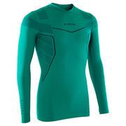 Zračna funkcijska majica z dolgimi rokavi Keepdry 500 za odrasle – zelena