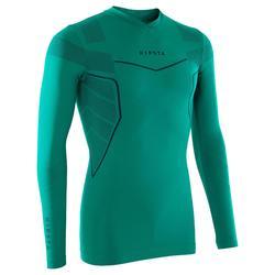 Funktionsshirt langarm Keepdry 500 atmungsaktiv Erwachsene smaragdgrün