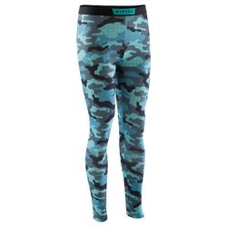 Keepdry Adult Breathable Tights - Camouflage Blue