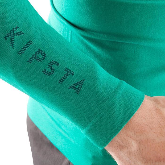 Ademend ondershirt met lange mouwen voor volwassenen Keepdry 500 smaragdgroen
