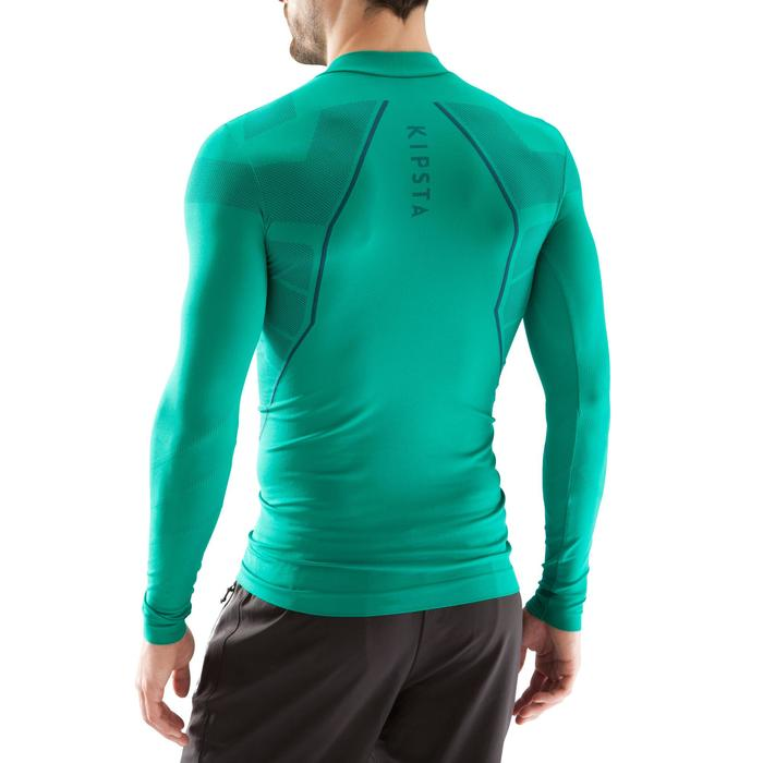 Sous maillot respirant manches longues adulte Keepdry 500 vert émeraude