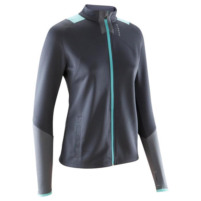 Veste d'entraînement de football femme T500 grise menthe - 1184397