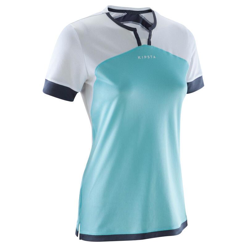pas mal 91327 c0f95 Textile Match et Entrainement - Maillot de football femme F500 blanc menthe