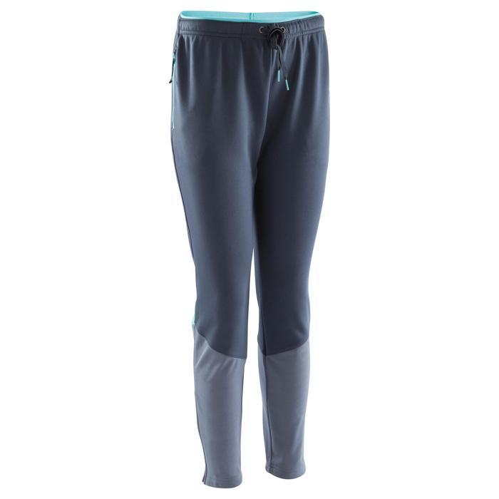 Pantalon d'entraînement de football femme TP500 gris menthe - 1184406
