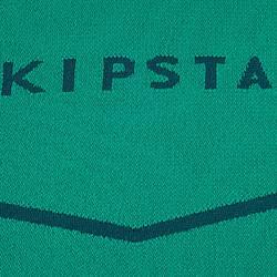 Camiseta térmica de fútbol manga larga adulto Keepdry 500 verde esmeralda