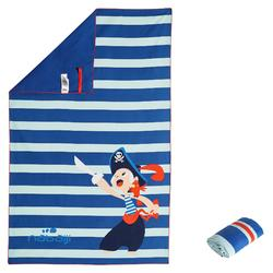 Ultra-Compact Microfibre Towel Size L 80 x 130 cm - Pirate Print Blue