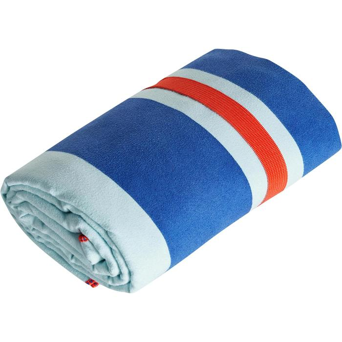 印花微纖維毛巾,L號 - 藍色