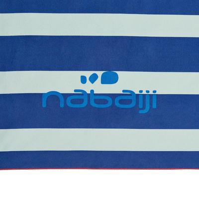 Serviette microfibre imprimée bleu L