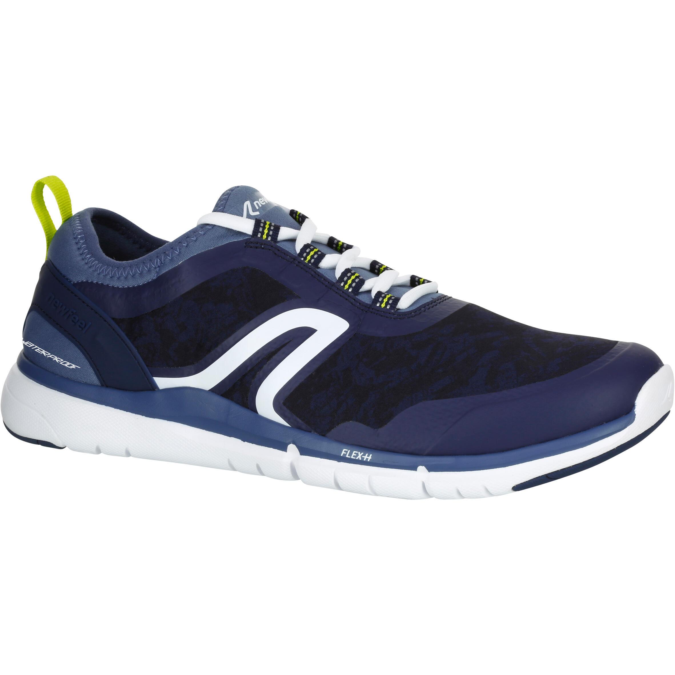 Walking Shoes for men waterproof PW 580 - Grey / Blue