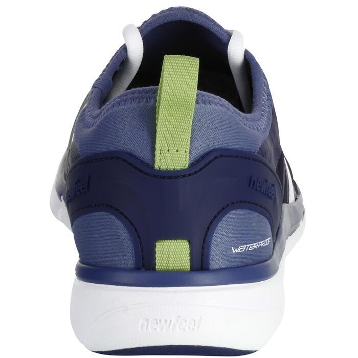 Zapatillas Caminar Newfeel PW 580 Impermeables Hombre Azul/Gris