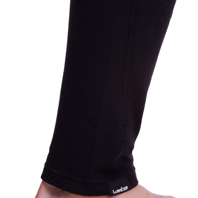 Wedze Simple Warm Ski Base Layer Trousers - Black