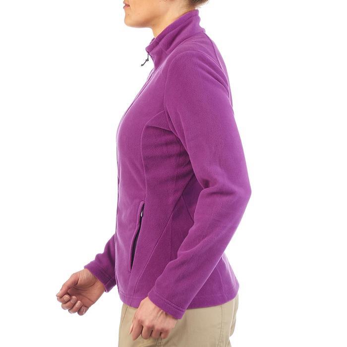 Fleece damesvest voor wandelen Forclaz 200 paars